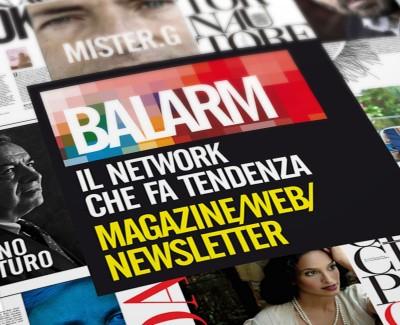 BALARM MAGAZINE PROGETTAZIONE LOGO